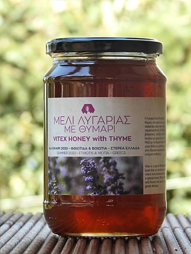 Μέλι λυγαριάς με ποσοστό θυμαριού